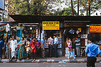 Book stores line the streets and alleyways near College Street, in the university district of Kolkata.