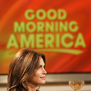 New York, NY / 2009 - Super model Cindy Crawford makes a publicity appearance during the morning broadcast of Good Morning America in Times Square to promote her new JCPenney furniture line at the start of Fashion Week in New York City Wednesday, Sept. 9, 2009. Photo by Mike Roy, Freelance for USA Today