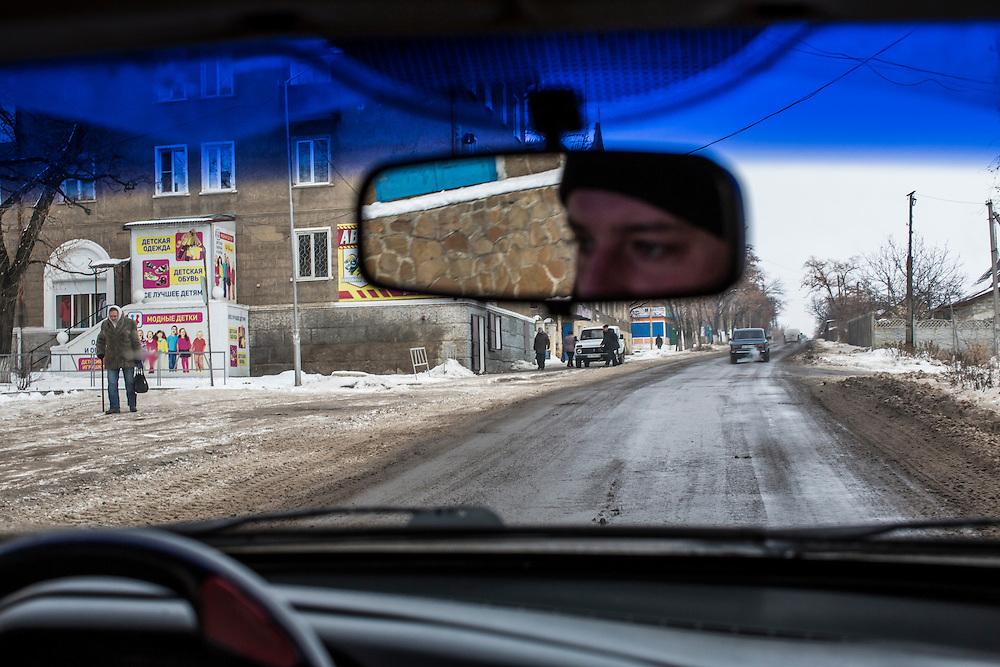 SHAKTARSK, UKRAINE - DECEMBER 8, 2014: The road between Donetsk and Luhansk in Shaktarsk, Ukraine. CREDIT: Brendan Hoffman for The New York Times