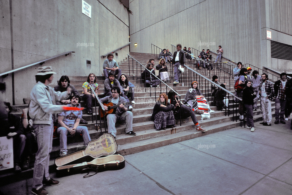 The Street Scene around the Civic Center before the Show. The Grateful Dead in Concert at the Hartford Civic Center on March 26th 1987