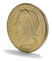 foreign gold quarter sized coin