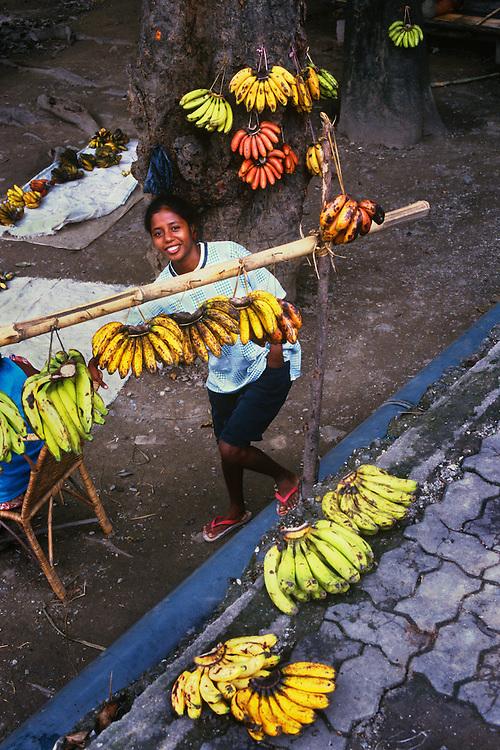 Banana seller, Dili, Democratic Republic of Timor-Leste.