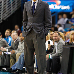 January 3, 2011; New Orleans, LA, USA; New Orleans Hornets head coach Monty Williams against the Philadelphia 76ers during the fourth quarter at the New Orleans Arena. The Hornets defeated the 76ers 84-77.  Mandatory Credit: Derick E. Hingle