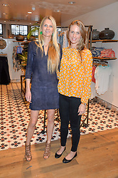 Left to right, LADY JUBIE WIGAN and JULIE HENDERSON at a party to celebrate the publication of The Naturalista by Xochi Balfour held at Anthropologie, 158 Regent Street, London on 19th April 2016.