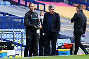 Everton Assistant Manager Duncan Ferguson and Everton Manager Carlo Ancelotti  during the Premier League match between Everton and Bournemouth at Goodison Park, Liverpool, England on 26 July 2020.