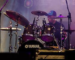 Drummer, Mango Groove. Cape Town Jazz Festival Free Community Concert, 29 March 2017. Greenmarket Square. Photo by Alec Smith/imagemundi.com