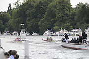 Henley, Great Britain.  Henley Royal Regatta. M4X, Queen Mother Challenge Cup, Australian Institute of Sport, AUS [Bucks], and CARC Mladost and RC Tresnjevka, CRO [Berks],racing, as CARC Mladost and RC Tresnjevka,are warned for steering, by the Umpire,  in their Semi-Final. River Thames Henley Reach.  Royal Regatta. River Thames Henley Reach.  Saturday  02/07/2011  [Mandatory Credit  Intersport Images] . HRR