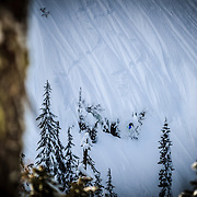 Owen Dudley getting air at the bottom of the Widow Maker.