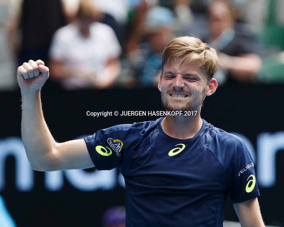 DAVID GOFFIN (BEL)<br /> <br /> Australian Open 2017 -  Melbourne  Park - Melbourne - Victoria - Australia  - 23/01/2017.