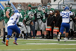 15 November 2014:  Anfernee Roberts during an NCAA division 3 football game between the North Park Vikingsand the Illinois Wesleyan Titans in Tucci Stadium on Wilder Field, Bloomington IL