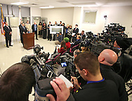 Deputy Assistant Secretary of Defense for Detainee Affairs Phil Carter speaks at a press conference following a tour by federal officials at the Thomson Correctional Center in Thomson, Illinois on Monday November 16, 2009. (Stephen Mally for The New York Times)