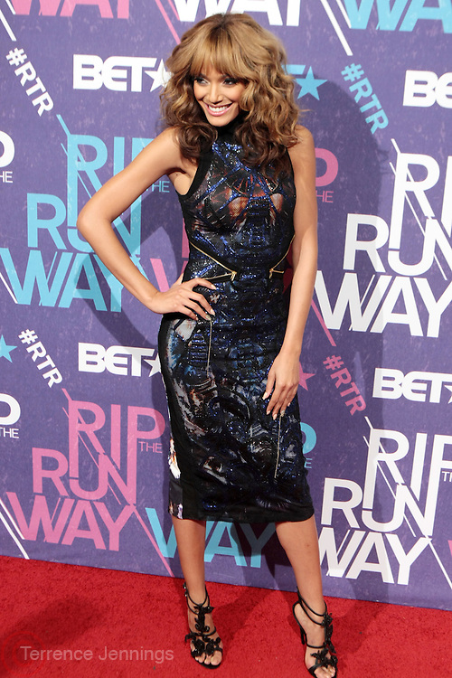New York, NY- FEBRUARY 29:  Model/Actress/Recording Artist Selita Ebanks at the BET Rip The Run Way held at the Hammerstein Ballroom on February 29, 2012 in New York City. Photo Credit: Terrence Jennings