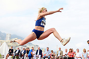 Paraskevi Papachristou (GRE) places eighth in the women's triple jump at 46-11 1/2 (14.31m)    during the women's triple jump in the  Herculis Monaco in an IAAF Diamond League meet , Thursday, July 11, 2019, in Port Hercules, Monaco.(Jiro Mochizuki/Image of Sport)