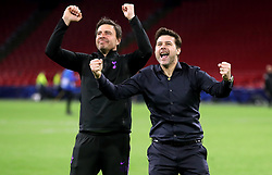Tottenham Hotspur manager Mauricio Pochettino (right) during the UEFA Champions League Semi Final, second leg match at Johan Cruijff ArenA, Amsterdam.