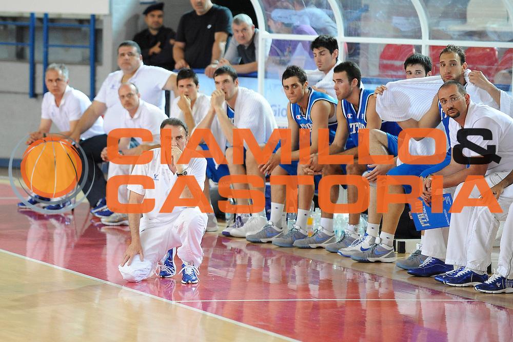 DESCRIZIONE : Teramo Giochi del Mediterraneo 2009 Mediterranean Games Italia Turchia Italy Turkey Preliminary Men<br /> GIOCATORE : Carlo Recalcati <br /> SQUADRA : Nazionale Italiana Maschile<br /> EVENTO : Teramo Giochi del Mediterraneo 2009<br /> GARA : Italia Turchia Italy Turkey<br /> DATA : 30/06/2009<br /> CATEGORIA : coach<br /> SPORT : Pallacanestro<br /> AUTORE : Agenzia Ciamillo-Castoria/G.Ciamillo
