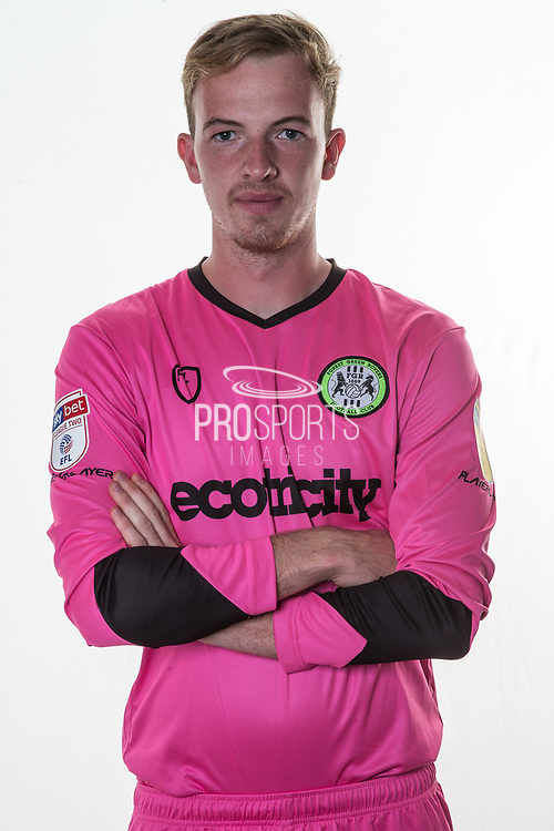 Forest Green Rovers goalkeeper Lewis Thomas(24) during the official team photocall for Forest Green Rovers at the New Lawn, Forest Green, United Kingdom on 29 July 2019.