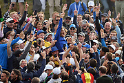 Tommy Fleetwood reacts after European victory during the sunday singles session of Ryder Cup 2018, at Golf National in Saint-Quentin-en-Yvelines, France, September 30, 2018 - Photo Philippe Millereau / KMSP / ProSportsImages / DPPI