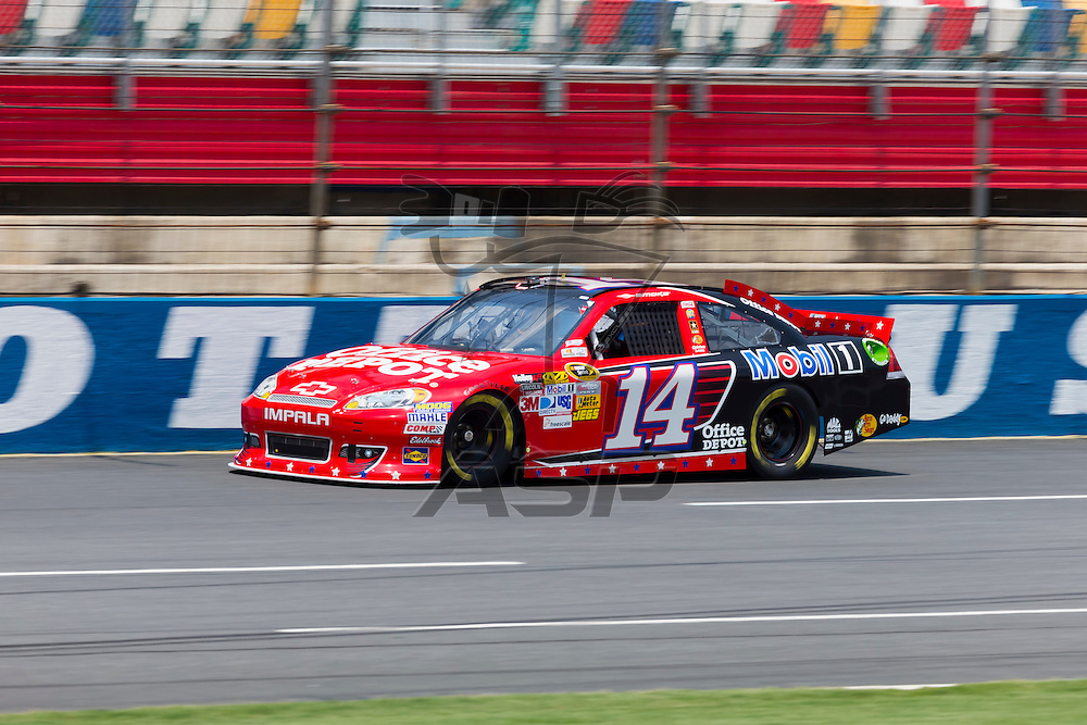 CONCORD, NC - MAY 26, 2012:  Tony Stewart (14) brings his Office Depot Chevrolet on the track for a practice session for the Coca-Cola 600 at the Charlotte Motor Speedway in Concord, NC.