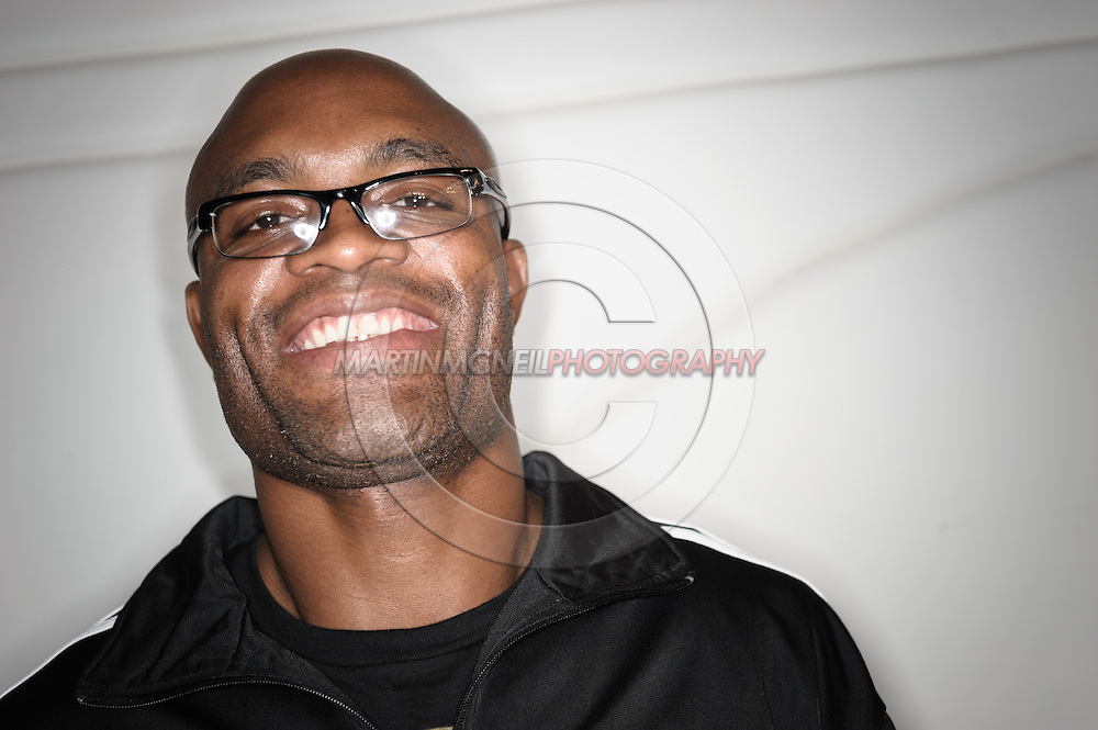 """A portrait of mixed martial arts athlete Anderson """"The Spider"""" Silva"""