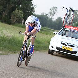Jaspr Hamelink reed een goede tijdrit en werd 5e in Reuver