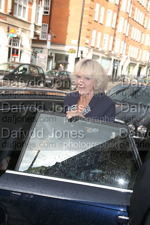 THE DUCHESS OF CORNWALL ,   Norman Parkinson and Philip Treacy, an exhibition of photographs by Norman Parkinson and drawings by celebrated milliner Philip Treacy. ELEVEN Gallery. VICTORIA. LONDON. 3 July 2007.  -DO NOT ARCHIVE-© Copyright Photograph by Dafydd Jones. 248 Clapham Rd. London SW9 0PZ. Tel 0207 820 0771. www.dafjones.com.
