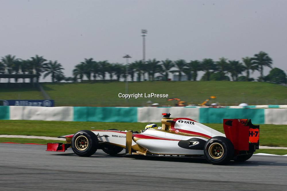 &copy; Photo4 / LaPresse<br /> 23/3/2012 Sepang<br /> Malaysian Grand Prix, Sepang 2012<br /> In the pic: Pedro de la Rosa (ESP) HRT F1 Team F112