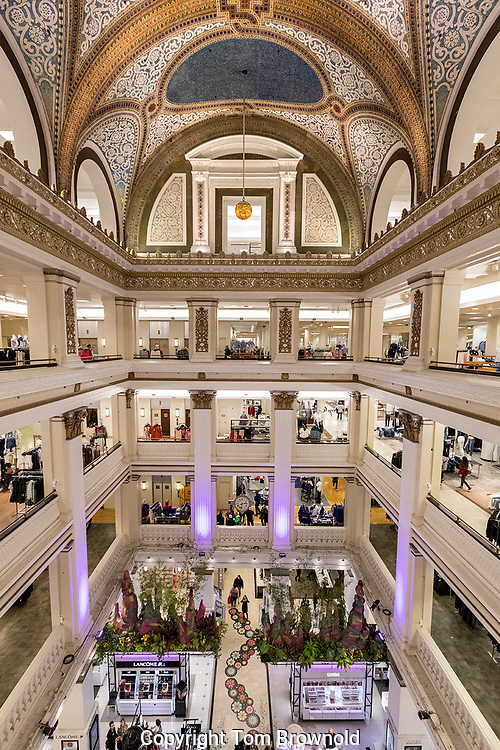 Marshall Field building housing Macy's department store. Chicago, IL.