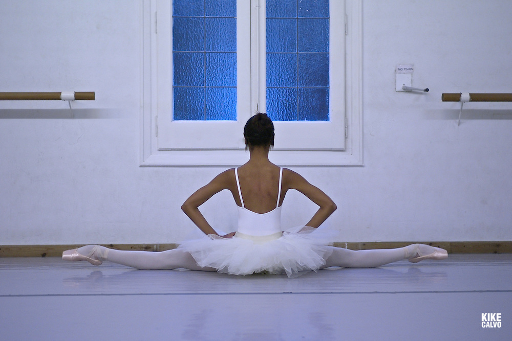 Spanish teen dancer Tayma, 20, has been training at the Maria de Avila Ballet School in Zaragoza since she was a child.