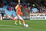 Lloyd Jones  takes goal kick in place of Colin Doyle  during the Sky Bet League 1 match between Scunthorpe United and Blackpool at Glanford Park, Scunthorpe, England on 5 September 2015. Photo by Ian Lyall.