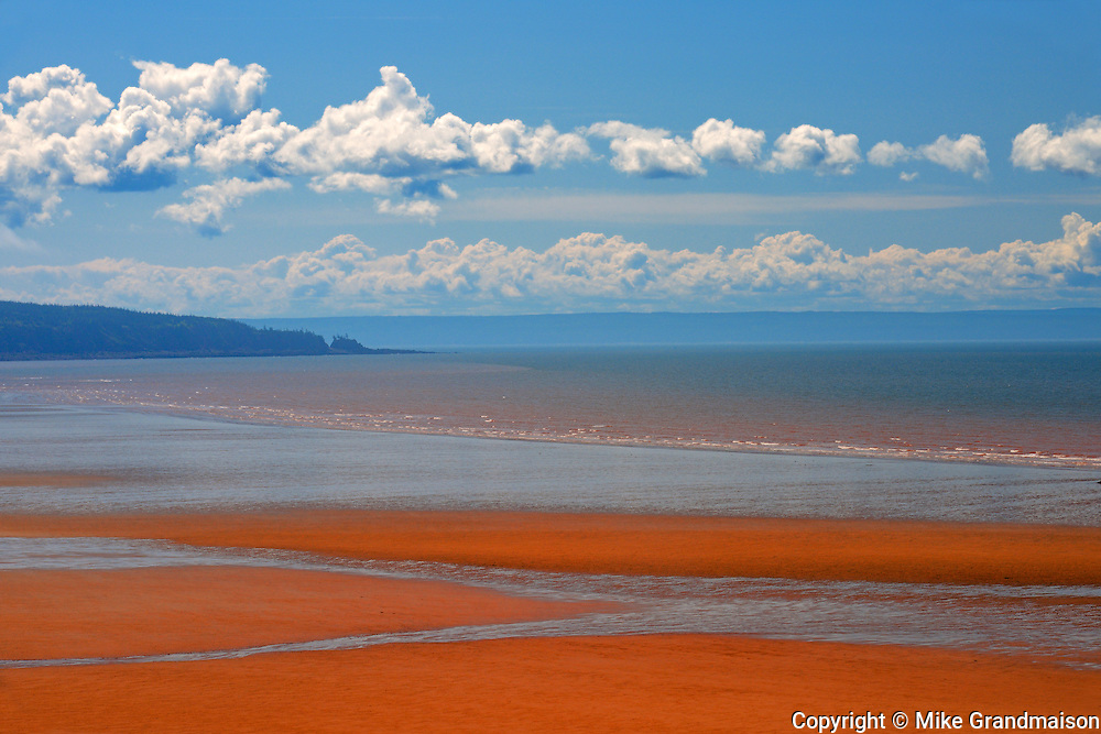 Low tide on Chignecto Bay <br /> Waterside<br /> New Brunswick<br /> Canada
