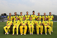 Australian team photo during the third women's one day International ( ODI ) match between India and Australia held at the Reliance Cricket Stadium in Vadodara, India on the 18th March 2018<br /> <br /> Photo by Vipin Pawar / BCCI / SPORTZPICS