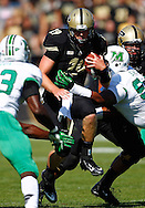 WEST LAFAYETTE, IN - SEPTEMBER 29: Caleb TerBush #19 of the Purdue Boilermakers runs thru the defense of Marshall Thundering Herd  at Ross-Ade Stadium on September 29, 2012 in West Lafayette, Indiana. (Photo by Michael Hickey/Getty Images) *** Local Caption *** Caleb TerBush