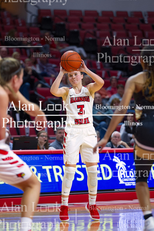 NORMAL, IL - October 30: Mary Compton during a college women's basketball game between the ISU Redbirds and the Lions on October 30 2019 at Redbird Arena in Normal, IL. (Photo by Alan Look)