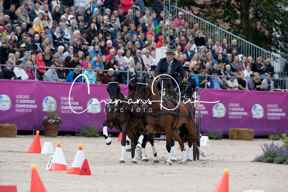 Timmerman Theo, NED, Balero, Boy, Dakota, Esprit, Mister<br /> FEI European Driving Championships - Goteborg 2017 <br /> &copy; Hippo Foto - Dirk Caremans
