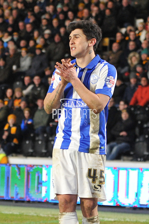 Fernando Forestieri of Sheffield Wednesday  during the Sky Bet Championship match between Hull City and Sheffield Wednesday at the KC Stadium, Kingston upon Hull, England on 26 February 2016. Photo by Ian Lyall.