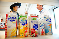 16-10-2013 WAGENINGEN – Queen Maxima Attents the opening of the Campina Innovation centre in Wageningen . COPYRIGHT ROBIN UTRECHT