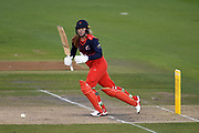 Sophie Ecclestone of Lancashire Thunder batting during the Women's Cricket Super League match between Southern Vipers and Lancashire Thunder at the 1st Central County Ground, Hove, United Kingdom on 15 August 2019.