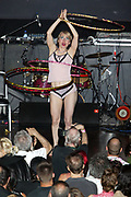 NEW YORK - MAY 16: Burlesque dancer Miss Saturn participates in The 2004 New York Burlesque Festival at Avalon May 16, 2004 in New York City.   (Photo by Matthew Peyton)
