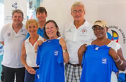 from left: <br /> Eduardo Sylvestre (BRA)<br /> Tim Cross<br /> Elizabeth Jordan, President of the National Sailing Academy Antigua<br /> Geoffrey Pidduck, president of the Antigua Sailing Association<br /> <br /> ISAF Emerging Nation Program<br /> National Sailing Academy Antigua