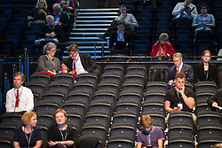 © Licensed to London News Pictures . 23/09/2013 . Brighton , UK . Empty seats at the Labour Party Conference this afternoon (Monday 23rd September 2013) on Work and Business Stability and Prosperity. Day 2 of the Labour Party 's annual conference in Brighton . Photo credit : Joel Goodman/LNP