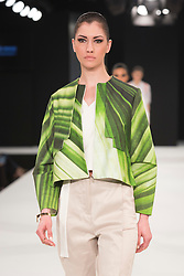 """© Licensed to London News Pictures. 02/06/2015. London, UK. Collection by Georgie Wood, University of Salford. Runway show """"Best of Graduate Fashion Week 2015"""". Graduate Fashion Week takes place from 30 May to 2 June 2015 at the Old Truman Brewery, Brick Lane. Photo credit : Bettina Strenske/LNP"""