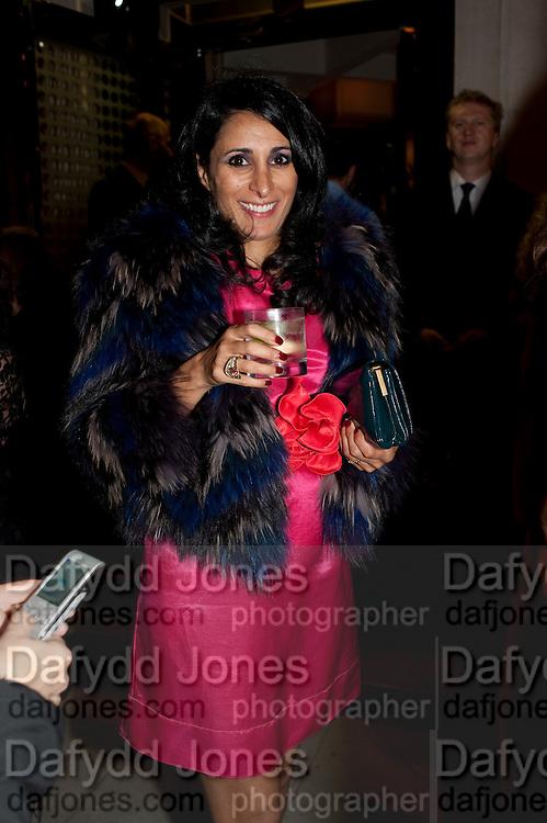 SERENA REES, Giogio Locatelli's book launch. Loconda. Portman Sq. London. 4 October 2011. <br /> <br />  , -DO NOT ARCHIVE-© Copyright Photograph by Dafydd Jones. 248 Clapham Rd. London SW9 0PZ. Tel 0207 820 0771. www.dafjones.com.