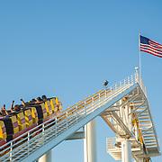 Roller coaster at Santa Monica Pier. Santa Monica, CA.
