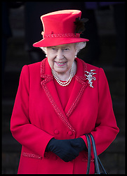 December 25, 2019, Sandringham, United Kingdom: QUEEN ELIZABETH II, leaving the Christmas Day church service at Sandringham in Norfolk, United Kingdom. (Credit Image: © Stephen Lock/i-Images via ZUMA Press)