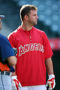 ANAHEIM, CA - APRIL 22:  Mike Napoli #44 of the Los Angeles Angels of Anaheim looks on before the game against the Detroit Tigers at Angel Stadium on Wednesday, April 22, 2009 in Anaheim, California.  The Tigers defeated the Angels 12-10.  (Photo by Paul Spinelli/MLB Photos via Getty Images) *** Local Caption *** Mike Napoli