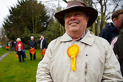 © Licensed to London News Pictures. 29/03/2015. Abingdon, UK. Liberal Democrat campaigners waiting for Nick Clegg to launch party's general election campaign at Albert Park in Abingdon, Oxford on Sunday, 29 March 2015. Photo credit : Tolga Akmen/LNP