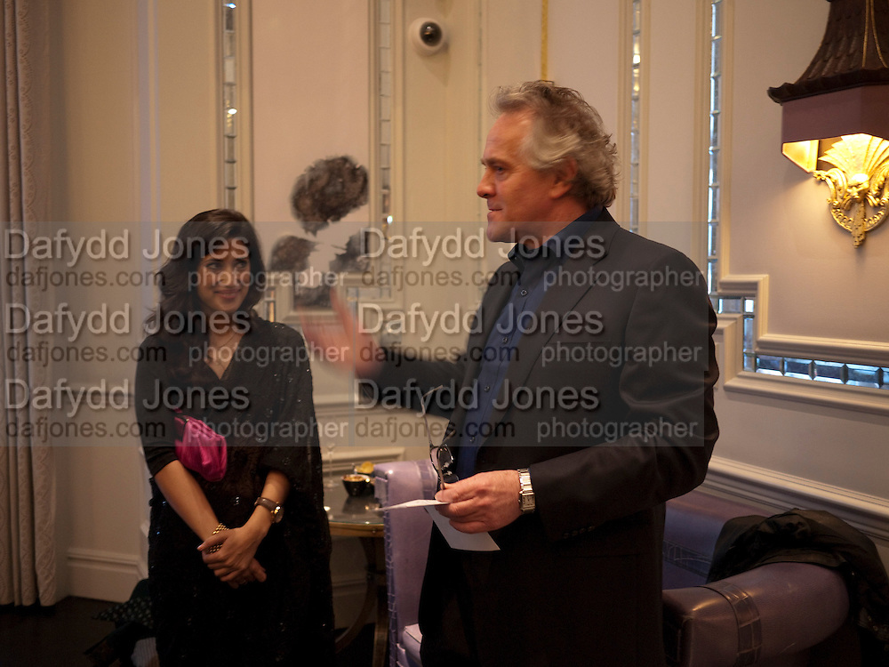 FATIMA BHUTTO; HENRY PORTER, Henry Porter hosts a launch for Songs of Blood and Sword by Fatima Bhutto. The Artesian at the Langham London. Portland Place. 15 April 2010.