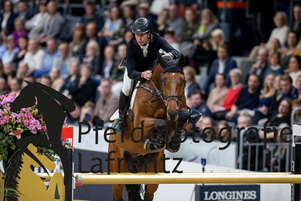 BENGTSSON Rolf-Göran (SWE), Oak Grove's Carlyle <br /> Göteborg - Gothenburg Horse Show 2019 <br /> Gothenburg Trophy presented by VOLVO - Stechen<br /> Int. jumping competition with jump-off (1.55 m)<br /> Longines FEI Jumping World Cup™ Final and FEI Dressage World Cup™ Final<br /> 06. April 2019<br /> © www.sportfotos-lafrentz.de/Stefan Lafrentz