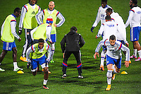 Echauffement equipe Lyon  - 04.12.2014 - Lyon / Reims - 16eme journee de Ligue 1  <br /> Photo : Jean Paul Thomas / Icon Sport