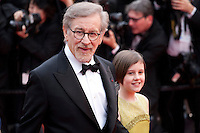Director Steven Spielberg and actress Ruby Barnhill at the gala screening for the film The BFG at the 69th Cannes Film Festival, Saturday 14th May 2016, Cannes, France. Photography: Doreen Kennedy